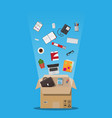moving to new office cardboard box vector image vector image