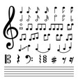 music notes isolated on white background vector image vector image