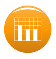 new graph icon orange vector image vector image