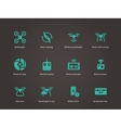 New technologies flying drone icons set vector image vector image