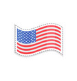 old glory usa flag rectangular shape patriotic vector image vector image