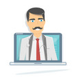online doctor medical consultation and support vector image vector image