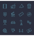 outline movie icons set vector image vector image