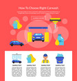 page with car wash flat icons vector image vector image