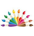 paints and brushes color art brush symbol
