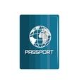 passport identification travel icon vector image