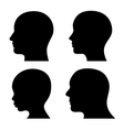 People Profile Head Silhouettes Set vector image vector image