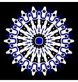 purple white and black mandala vector image