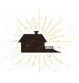 retro home silhouette logo vector image
