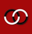 sacred geometry sign yin and yang logo design vector image