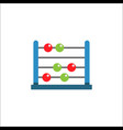 school abacus flat icon education and school vector image