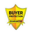 seal buyer protection guarantee shield logo vector image vector image