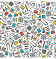 seamless educational icons print vector image vector image