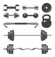 set sign weights for fitness or gym design vector image