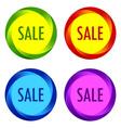 set unusual sale labels vector image vector image