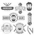 set vintage badge emblem or logotype elements vector image