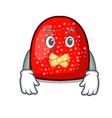 silent gumdrop mascot cartoon style vector image vector image
