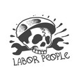 skull worker with an instrument vector image vector image