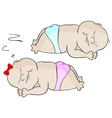 Sleeping babies vector image