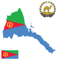 state eritrea flag vector image vector image