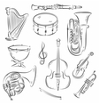 Symphony Orchestra Set vector image