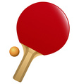 Table tennis bat and ball vector image