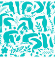 toucans paradise tropical bird seamless pattern vector image