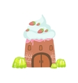 Tower Made Of Candy Whipped Cream And Jelly vector image