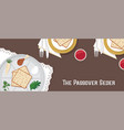 traditional passover table for passover dinner vector image vector image