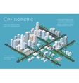 Transportation 3D city vector image vector image
