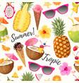 tropic summer pattern vector image