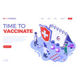 vaccination concept banner vector image