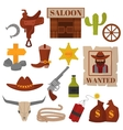 Vintage American old western designs sign and vector image vector image