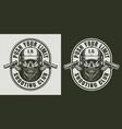 vintage army monochrome label vector image vector image