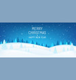 winter snowy night mountains with coniferous vector image