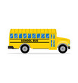 yellow school bus side view vector image