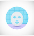 face mask flat icon vector image