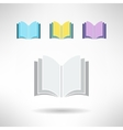Set of simple book icons Notebook sign Learning vector image