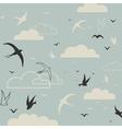 Bird in the sky vector image