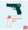 Gun icon isolated vector image