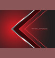 abstract silver black arrow direction on red vector image vector image