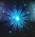 abstract space background explosion vector image vector image