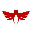 abstract wings bird logo icon vector image vector image