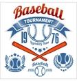 American baseball emblem vector image vector image