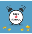 Back to school Alarm clock with chalk text vector image vector image