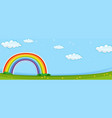 background scene with colorful rainbow vector image