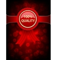 Background with red label vector image vector image