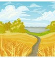 Beautiful autumn landscape vector image