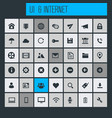 big ui and internet icon set vector image vector image