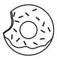 bitten glazed ring donut with sprinkles vector image